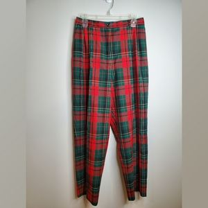 Vintage Pendleton Red and Green Plaid Crop Pants